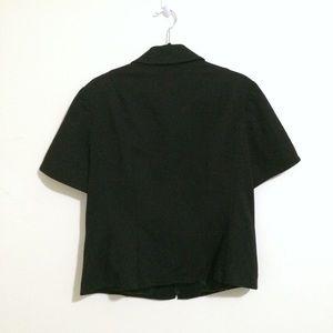 St. John Jackets & Coats - St. John Sport Short Sleeve Button Detail Jacket